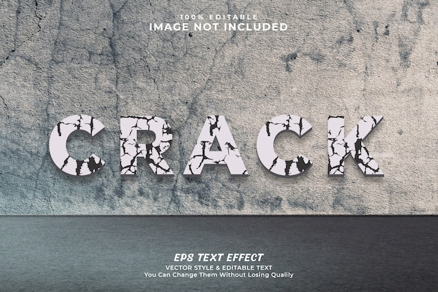 Crack text effect