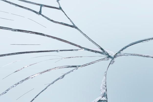 Specchio incrinato sfondo vettoriale vetro in frantumi