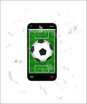 Cracked screen smartphone