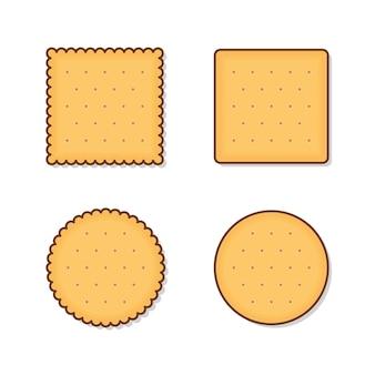 Крекер печенье, изолированные на белом фоне