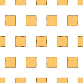 Печенье крекер бесшовные модели на белом фоне. печенье печенье тема векторные иллюстрации