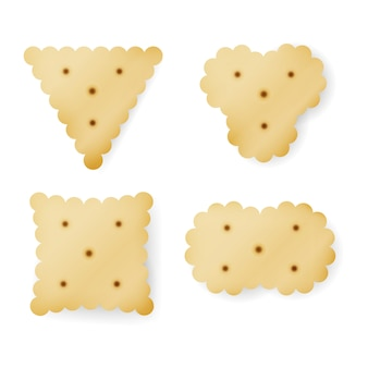 Cracker in different shapes