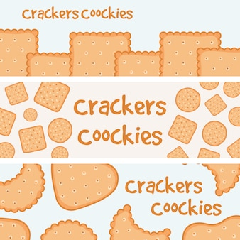 Crackers and biscuits banners