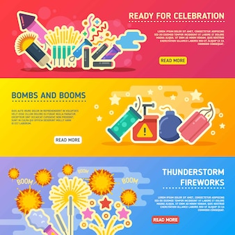 Crackers show set of vector business banners