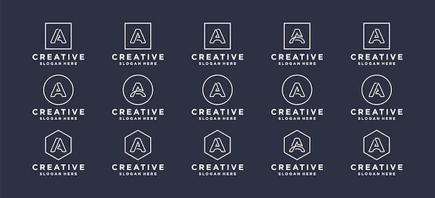 Craetive letter a initials logo design.
