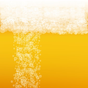 Ремесло пиво фон. всплеск лагера. пена октоберфест. шипучая пинта эля с реалистичными пузырями. прохладный жидкий напиток для ресторана. концепция золотого меню. апельсиновый кувшин для пены октоберфест.