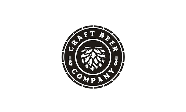 Craft beer / brewery labelのロゴ