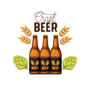 Craft beer label isolated icon