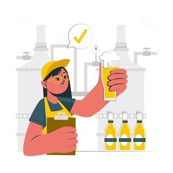 クラフトビール製造コンセプトイラスト