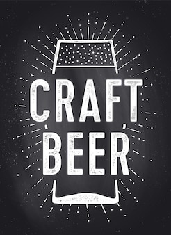 Craft beer. poster or