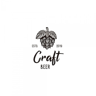 Craft beer vintage logo