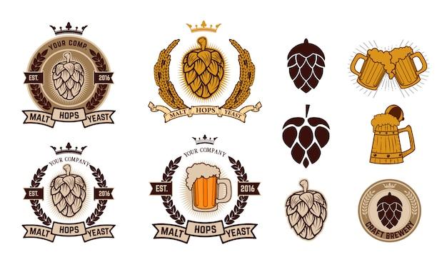 Craft brewery. beer labels.