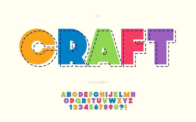 Ремесленный шрифт смелый красочный стиль модная типография