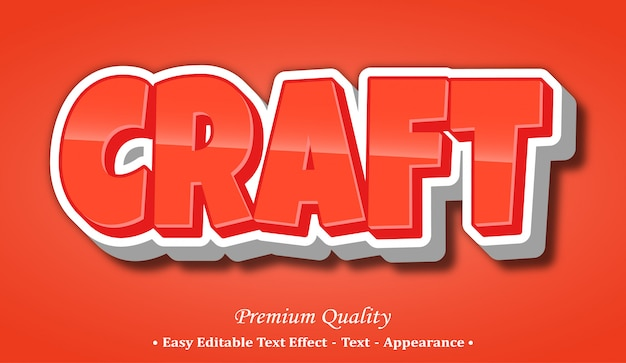 Craft  font style effect