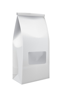 Craft paper bag with window