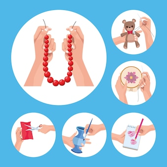 Craft projects six icons