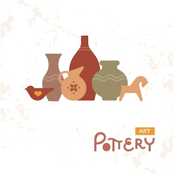 Craft vases pottery of clay