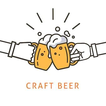 Иллюстрация пива craft