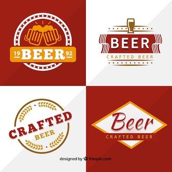 제작 된 맥주 배지