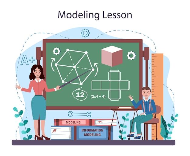 Курс школы ремесла и моделирования. учитель обучает студентов