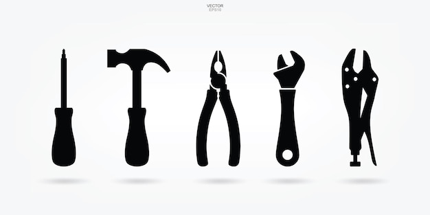 Craftsman tool icon. technician tool sign and symbol. vector illustration.
