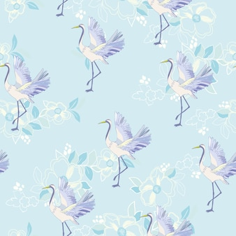 Crane animals pattern