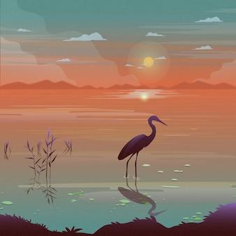 Журавль птица