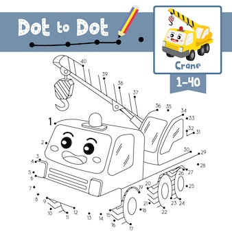 Crane dot to dot game and coloring book