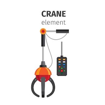Crane flat element isolated on white