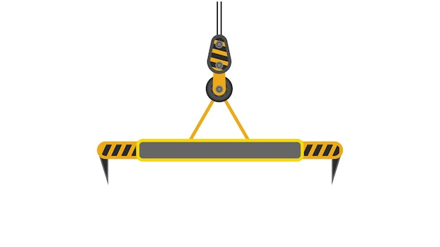 Crane for lifting freight containers. isolated. vector.