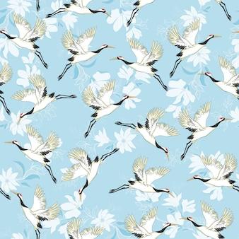 Crane pattern vector