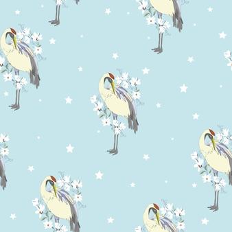 Crane, pattern, ,