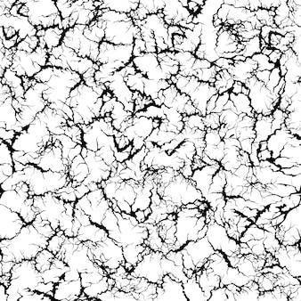 クラクリュールパターン。グランジクラック、ひびの入った塗られた壁と地面のひびのテクスチャのシームレスなイラスト。