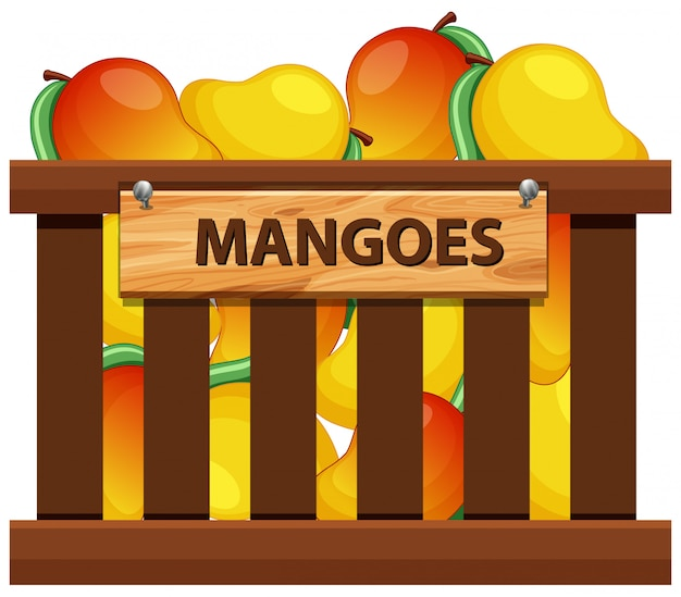 A crate of mangoes