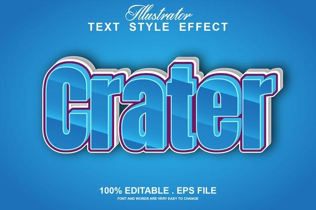 Кратер текстовый эффект редактируемый