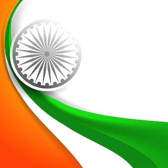 Crative indian flag stylish wave  vector