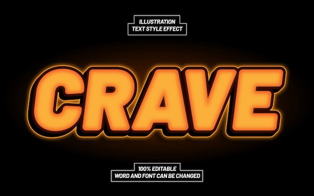 Crave 3d bold text style effect