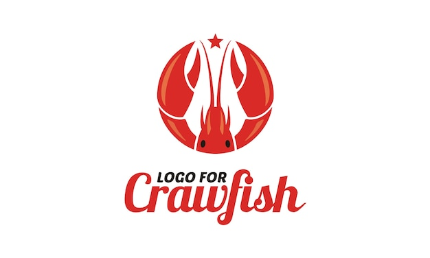 Crawfish/prawn/shrimp/lobster seafood logo