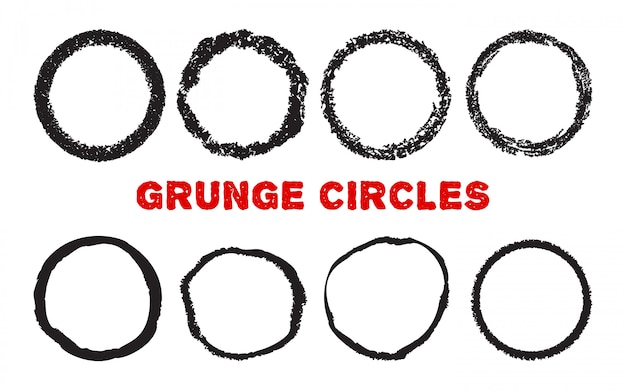Crayon circles isolated on white