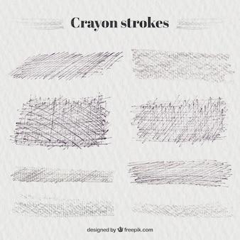 Коллекция инсульта crayon