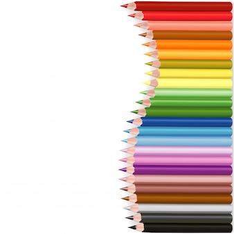 Crayons wave shape