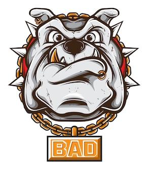 Crazy bulldog vector