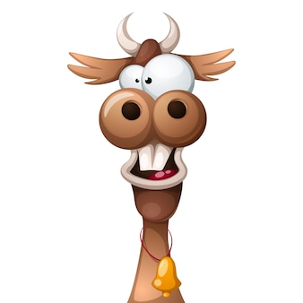 Crazy cartoon characters cow.