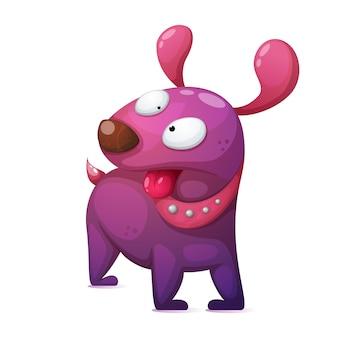 狂った漫画の犬のキャラクター。