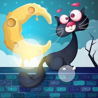 Crazy cat character