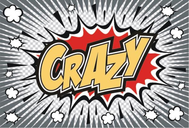 Crazyコミックのスピーチバブル。スピーチのコミックバブル。コミックサウンドエフェクト