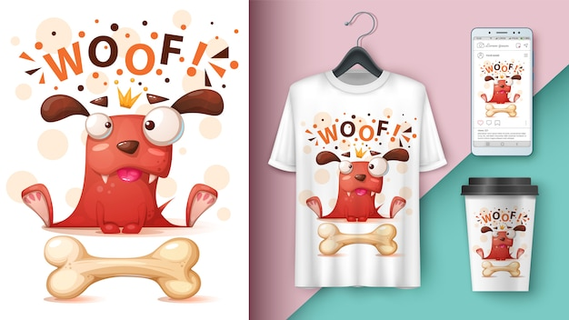Crazy dog - mockup for your idea