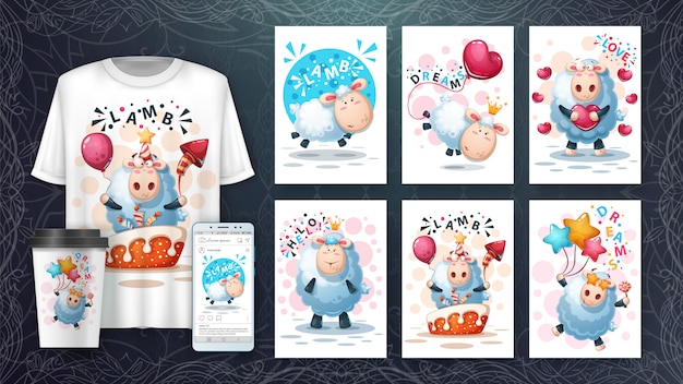 Crazy lamb card set and merchandising