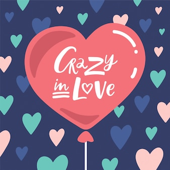 Crazy in love lettering composition