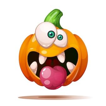 Crazy pumpkin characters